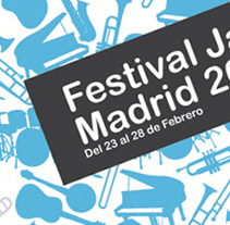 Festival Jazz Madrid. A Design project by Manuel Lariño - 08-07-2009