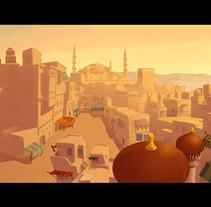 Ilustración para escenario  de animación. A Illustration project by santosdelacalle@gmail.com         - 08.02.2010