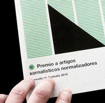 Premio artículos periodísticos. Um projeto de Design, Ilustração e Publicidade de Gende Estudio         - 20.04.2010