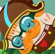 El circo y el papel. Un proyecto de Diseño, Ilustración y 3D de Lobulo         - 24.06.2010