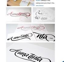 Lettering A 1 Tinta. A  project by Rodrigo Maroto - Jul 12 2010 06:46 PM