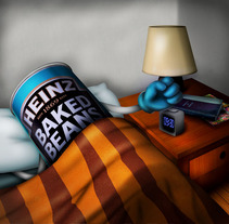 Heinz baked beans. A Illustration, and 3D project by sergio garcia montes - 20-09-2010