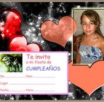 Invitación de cumpleaños. A Design, Illustration, Advertising, Photograph, and UI / UX project by Doina Catruna         - 14.11.2010