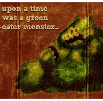 monstruo verde comepiedras. A Illustration project by Salvador Casteleao Pazó         - 16.11.2010