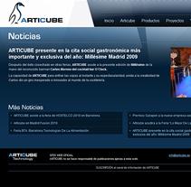 Articube | Nuevo sitio web. Un proyecto de Diseño de Eloy Ortega Gatón - 12-12-2010