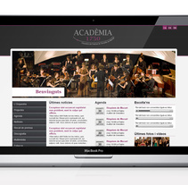 Orquestra Acadèmia 1750. A Design, Advertising, and UI / UX project by laKarulina  - 24-01-2011