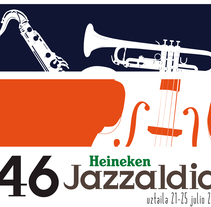 46º Jazzaldia. A Design, Illustration, and Advertising project by Yury Krylov         - 03.03.2011