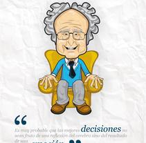 Eduard Punset. Un proyecto de Ilustración de Paula Araújo Losas - Lunes, 11 de abril de 2011 18:26:21 +0200