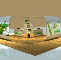 Diseño de Stand. A Design, Installations, 3D, and Advertising project by Sara  Pantoja Gil - 06.22.2011
