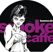 Smoke Caffe. A Design&Illustration project by Mauro Andrés Ponte - 24-06-2011