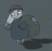 El Hombre del Saco tiene miedo a la oscuridad. A Illustration project by Laura Pastor - 21-07-2011