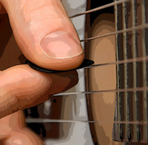 Propuesta cartel Certamen de guitarra de Benicàssim. Un proyecto de Diseño y Publicidad de Javier Melchor Cea - 25-08-2011