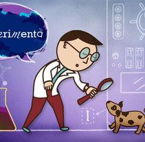 Pequeño Científico. A Illustration, and Advertising project by Taína Almodóvar         - 15.09.2011