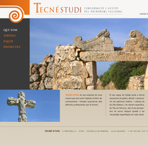 Web - Tecnéstudi. A Design project by Luis Moreno  - 20-09-2011