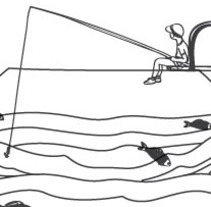 """pescando"". A Illustration project by rosanna blanco          - 22.09.2011"