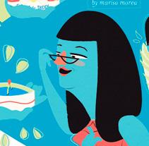 Caprice des Dieux+Vueling. Un proyecto de Ilustración y Publicidad de Marisa Morea         - 23.09.2011