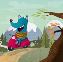 El Lobo Veloz. Un proyecto de Ilustración de Yago Juez Deusto - 29-10-2011