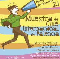 Propuesta cartel Muestra de cine de Palencia. A Illustration project by Virgilio Creativo         - 06.12.2011