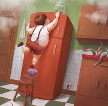 """""""Mañana de domingo"""". Um projeto de Ilustração de Laura Wächter - 13-12-2011"""