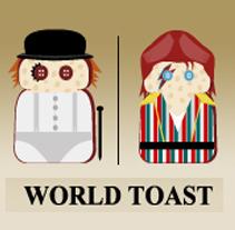 World Toast. A Design&Illustration project by Omar Lopez Sanchez         - 09.01.2012