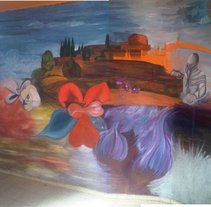 Mural Hostalric. Um projeto de Ilustração e Publicidade de Cristina Macaya         - 24.01.2012