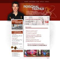 Diseño web Tu personal trainer. A Design, and UI / UX project by Sergio Sala Garcia         - 26.01.2012