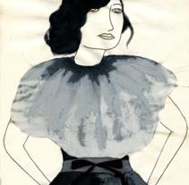 Mujer de traje gris. Un proyecto de Ilustración de vanessa  santos - 24-02-2012