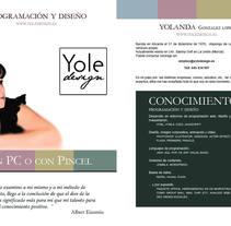 Este es mi pequeño curriculum.. Un proyecto de Diseño, Ilustración, Informática, Br, ing e Identidad, Diseño Web y Desarrollo Web de Yolanda González López         - 30.04.2014