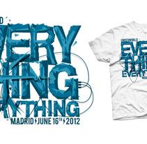 Camiseta Everything everything. Un proyecto de Ilustración de Alvaro Portela Martínez - 12.04.2012