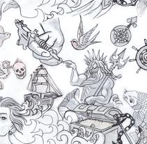 Neptuno Tattoo. Um projeto de Design de Irene Martos Gomez         - 09.05.2012