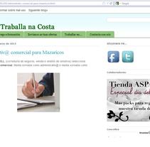 Blog Traballarnacosta. Um projeto de Design e Informática de Oscar M. Rodríguez Collazo - 12-05-2012