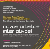 Novos Artistas Inter[ativos]. A Design project by Nathália Costa          - 20.05.2012