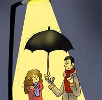 Rain. Um projeto de Ilustração de Ainhoa Garcia         - 24.05.2012