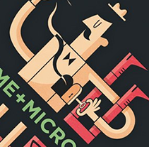 Cartel para J'Aime + Microcosmos. A Design&Illustration project by Diego Cano - Jun 05 2012 04:05 PM