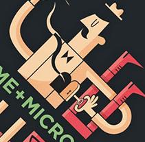 Cartel para J'Aime + Microcosmos. Un proyecto de Diseño e Ilustración de Diego Cano - Martes, 05 de junio de 2012 16:05:31 +0200
