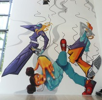 Breakin´Convention walls. A Illustration, Character Design, Events, and Fine Art project by Chiko  KF - 02-05-2011