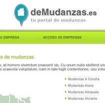 DeMudanzas.es. Un proyecto de Diseño, Ilustración, Desarrollo de software y UI / UX de Daniela Nettle - 19-06-2012
