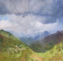 Tormenta en montañas de Sudamerica.. Um projeto de Ilustração de Jose Martínez Calderón - 02-07-2012