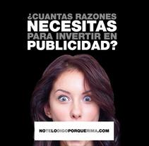 Campaña notelodigoporquerima.es. Un proyecto de Diseño, Publicidad, Desarrollo de software y UI / UX de Diseño y Comunicación ALPUNTODESAL         - 04.07.2012