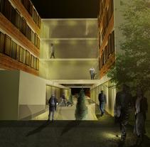 Centro Sociosanitario en Cabueñes. Un proyecto de 3D, Arquitectura, Diseño de interiores, Arquitectura interior y Diseño de Alejandro Mazuelas Kamiruaga - Lunes, 28 de septiembre de 2015 00:00:00 +0200
