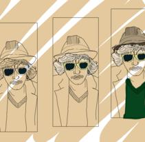Javier Adell, fumador. Un proyecto de Ilustración de Pau Avila Otero         - 14.07.2012