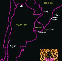 Mapa Destinos . A Design project by Daniel López         - 08.08.2012
