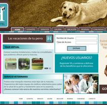 Boceto web Gos Hotel para perros. A Design project by Jessica Alexandra Bustamante Fonseca - 11-10-2012