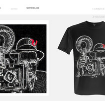 camisetas V televisión. Um projeto de Design, Ilustração e Publicidade de marta moldes grela         - 01.11.2012