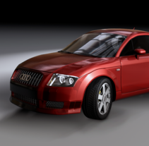 Audi TT  3d Modeling. A Design, Illustration, and 3D project by Alejandro Creo - 17-12-2012