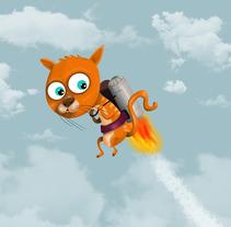 gato volador. Un proyecto de Diseño, Ilustración y Publicidad de julilustrador  - 15-01-2013
