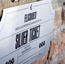 Golden & Silver Tickets - TICKETS Bar. A Design project by Andreu Rami Bastante - 09-02-2013