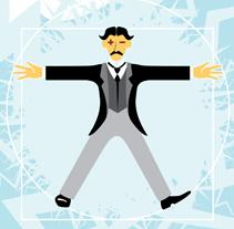 Ilustración / Dicotomía Supergods vs. Nikola Tesla. A Illustration project by Diseño gráfico :: Maquetación  :: Ilustración - 02.23.2013