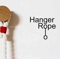 Hanger Rope - Perchero de pared. A Design, Crafts, Furniture Design, and Product Design project by Pepe Sanmartín         - 09.06.2013