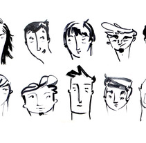 Faces. A Design, Illustration, Film, Video, and TV project by Llop Ilustración         - 12.06.2013
